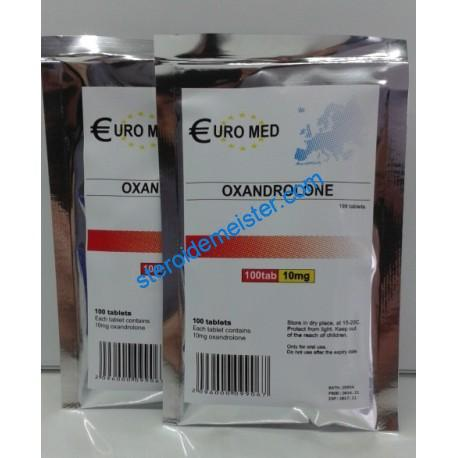 Oxandrolone 10mg (Anavar) Euromed 100 tablets (10mg / tab) 1