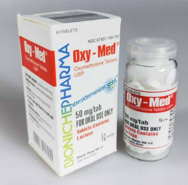 Oxy-Med Bioniche Pharma (Oxymethlone, Anadrol) 120tabs (50mg / tab) 1