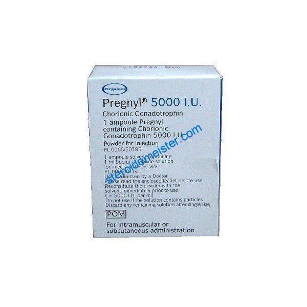 Pregnyl HCG 5000 IU human chorionic gonadotropin 1